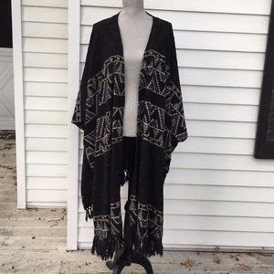 Urban Outfitters long boho shawl kimono poncho